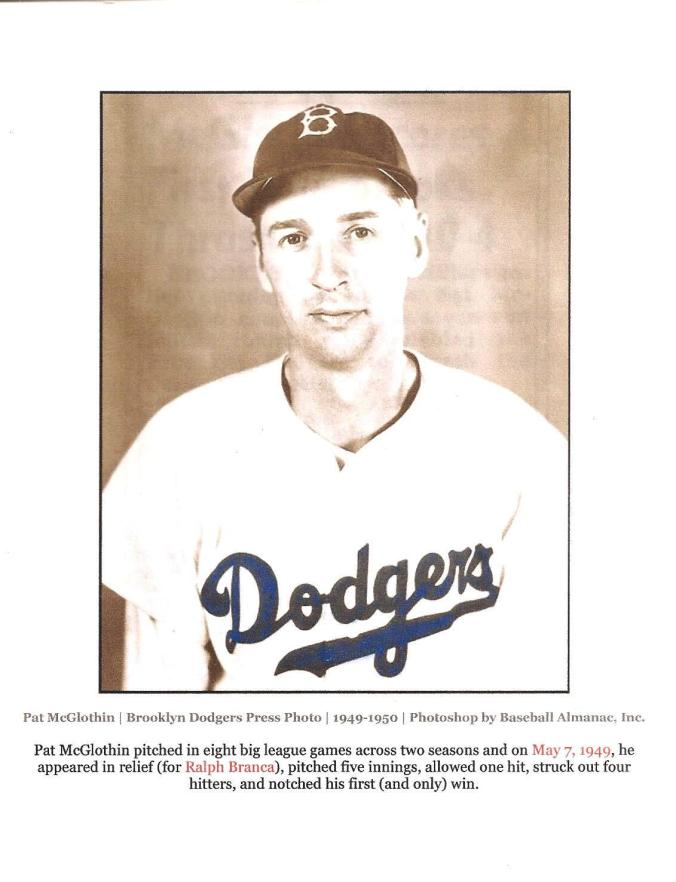 Pat McGlothin, Brooklyn Dodgers 001